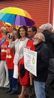 Alison Eden at Ashburton Protest Meeting